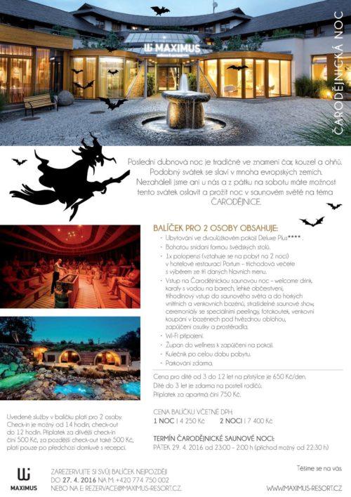 Čarodějnická noc v hotelu Maximus Resort