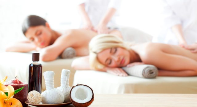 beautiful women at spa session
