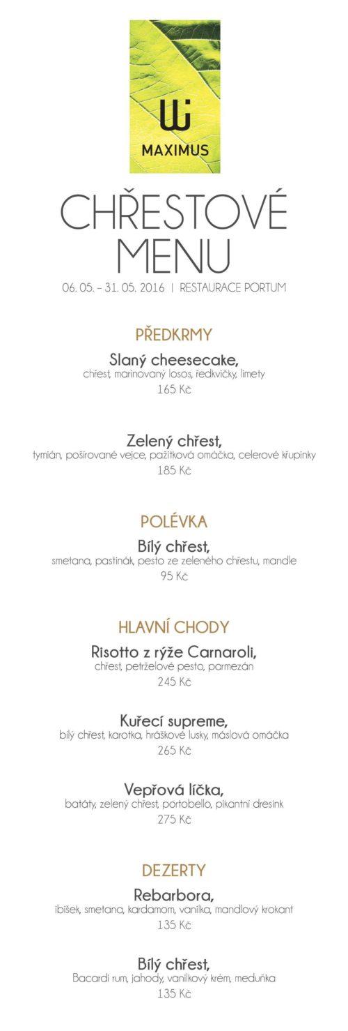 Chřestové menu 2016