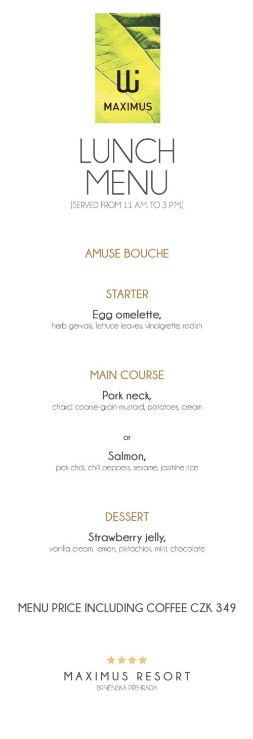 Lunch menu X.
