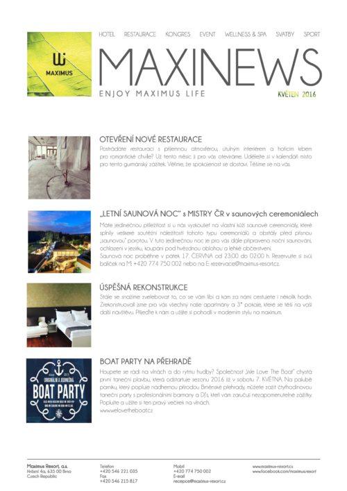 Maxinews květen 2016