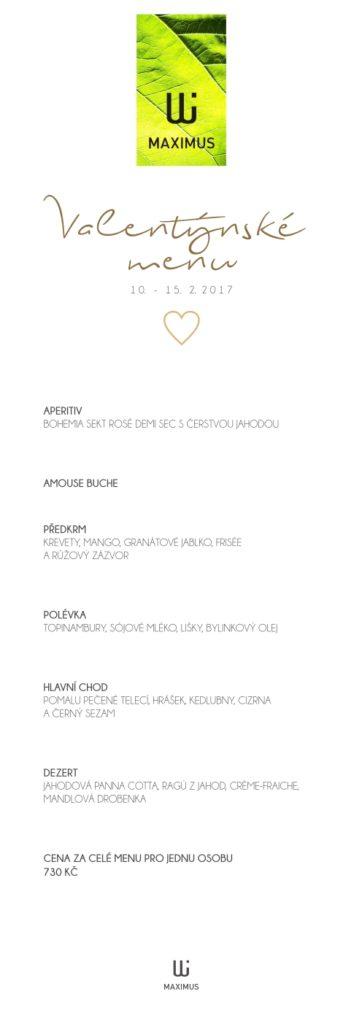 Valentýnské menu