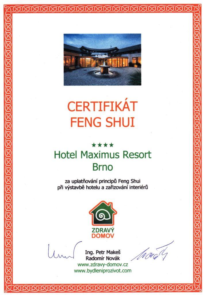 Certifikat Feng Shui