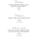 chrestove menu