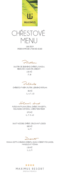 chrestove menu