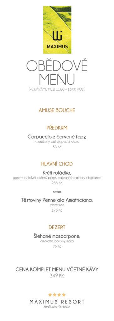 Obědové menu XIII