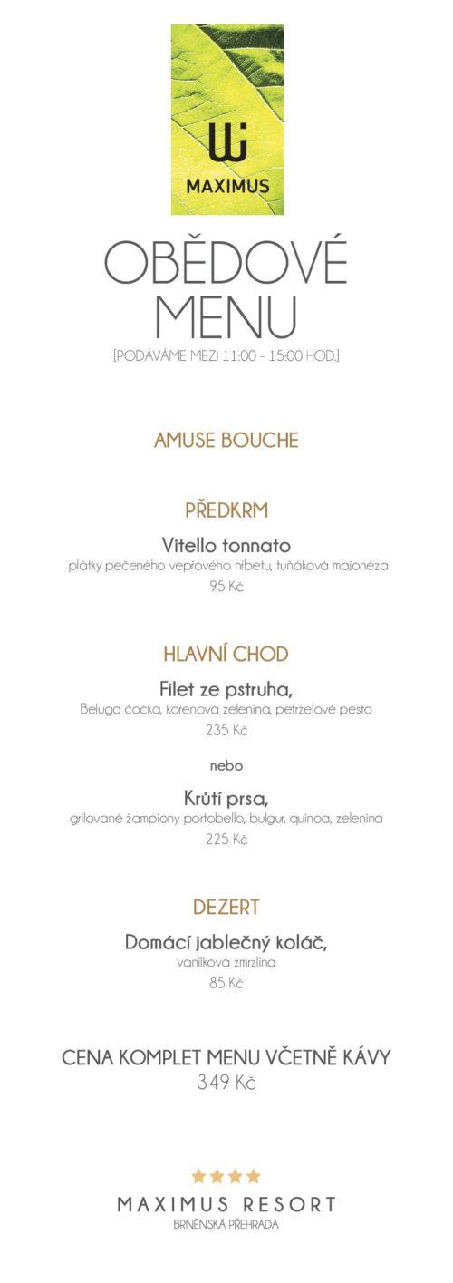 obědové menu XII